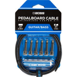 BOSS Solderless Pedalboard Cable Kit, 6 Connectors, 6ft / 1.8m Cable BCK-6