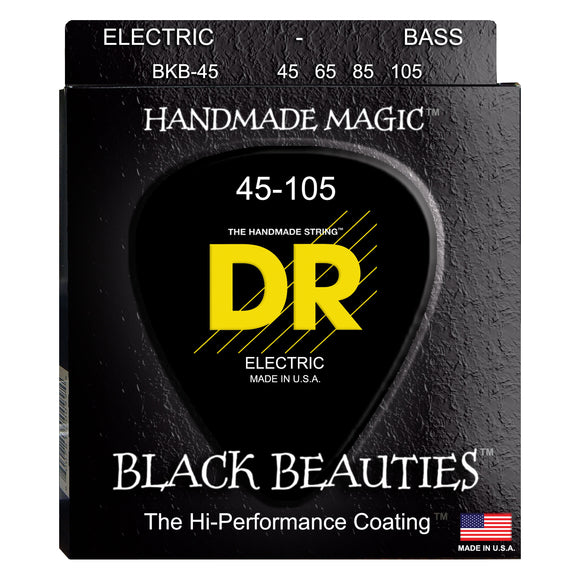 DR BKB-45 Black Beauties K3 Coated Bass Strings Medium 45-105