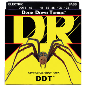 DR DDT5-45 Drop Down Tuning Bass Strings - Medium 5-String