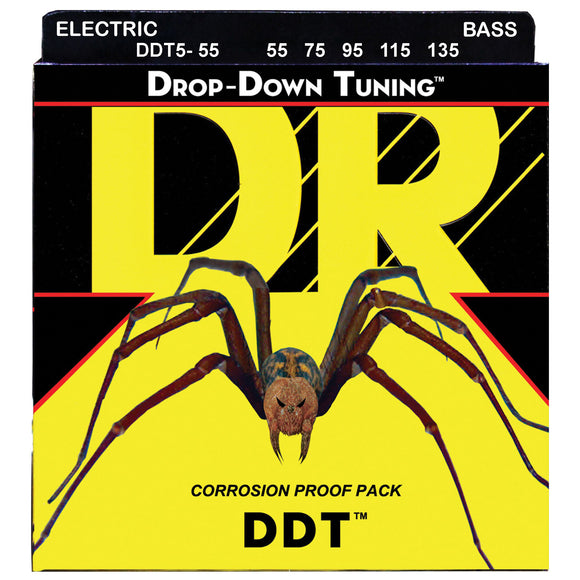 DR DDT5-55 Drop Down Tuning Bass Strings, Heavy 5-String