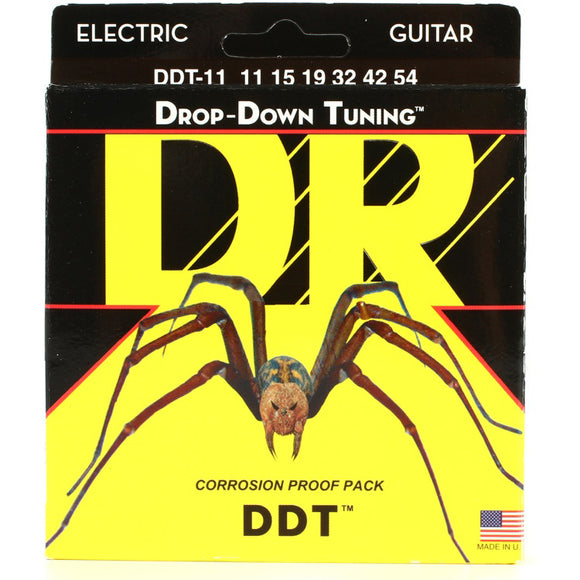 DR DDT7-11 Drop-Down Tuning Electric Strings 7-String Extra Heavy 11-65