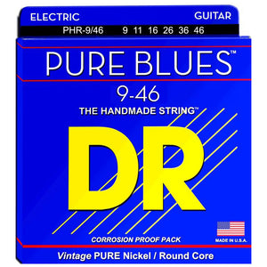 DR Strings PHR-9/46 Pure Blues Electric Strings - Lite-n-Heavy, 9-46
