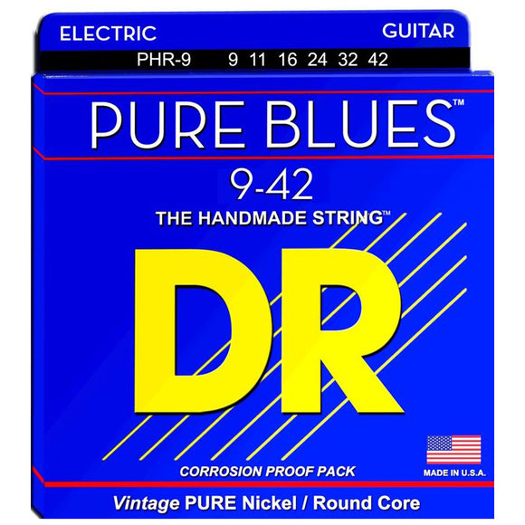 DR Strings PHR-9 Pure Blues Electric Strings - Lite, 9-42