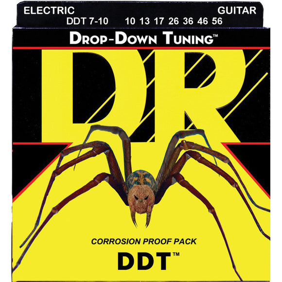 DR DDT7-10 Drop-Down Tuning Electric Strings 7-String Medium 10-56