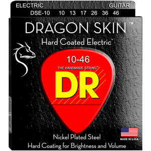 DR DSE-10 DragonSkin Coated Electric Strings -Medium 10-46