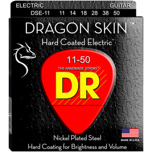 DR DSE-11 DragonSkin Coated Electric Strings - Heavy, 11-50