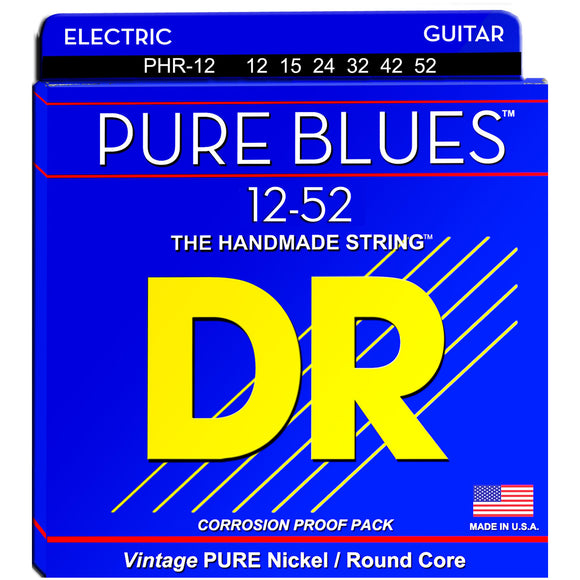 DR Strings PHR-12 Pure Blues Electric Strings - Jazz, 12-52