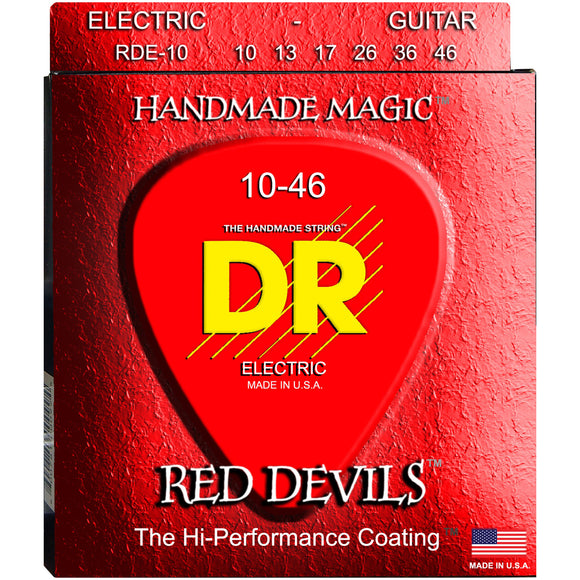 DR Strings Rare RDE-10 Red K3 Coated Electric Strings - Medium, 10-46