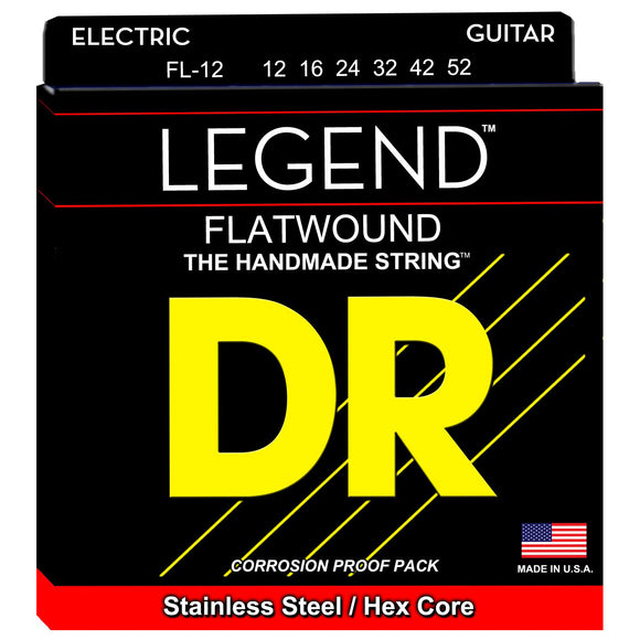 DR FL-12 Legend Flatwound Electric Strings 12-52