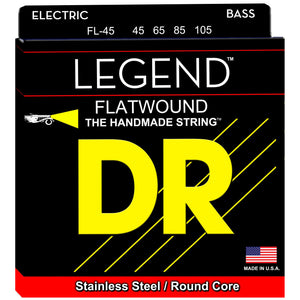DR FL-45 Legend Flatwound Electric Bass Strings - Long Scale, 45-105