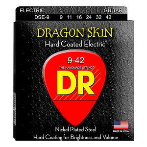 DR DSE-9 DragonSkin Coated Electric Strings - Lite, 9-42