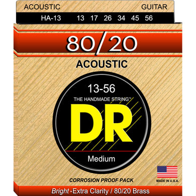 DR HA-13 Hi-Beam 80/20 Acoustic Strings 13-56 Medium