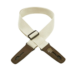 "Lock-It Guitar Strap 2"" Cotton Natural 36"" - 60"""