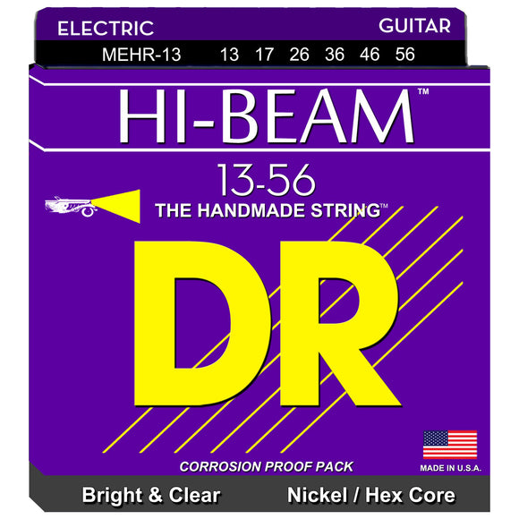 DR Hi-Beam MEHR-13 Nickel-Plated Steel Hex Core Electric Strings Mega - Heavy  13-56