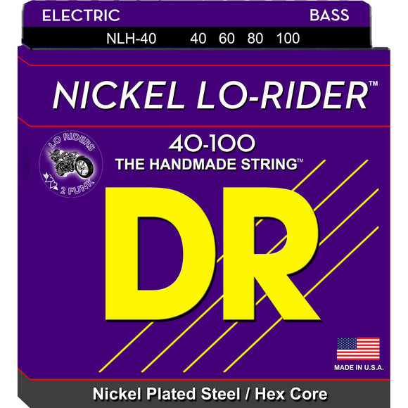 DR Nickel Lo-Rider Bass Strings 40-100 Lite 4-String NLH-40