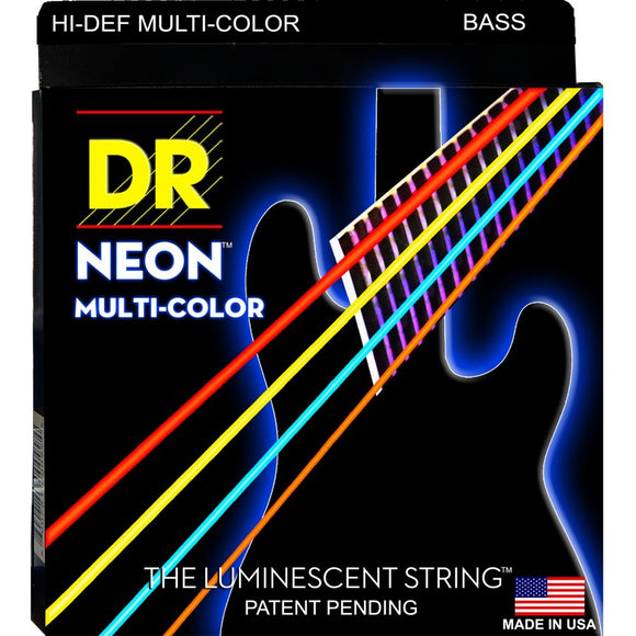 DR Multi Color Bass Strings Medium 45-105 | NMCB-45