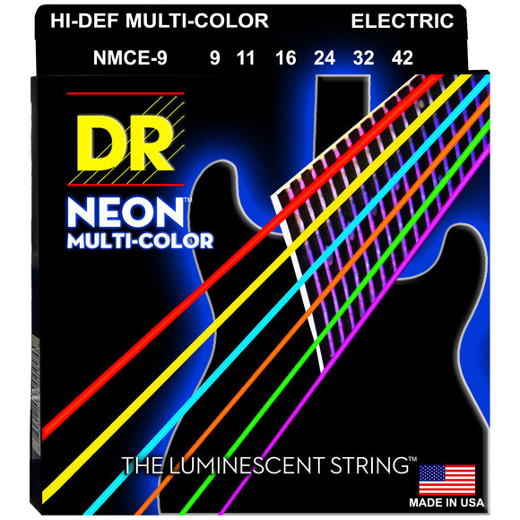 DR NMCE-9 Multi-Color Electric Strings - Light, 9-42