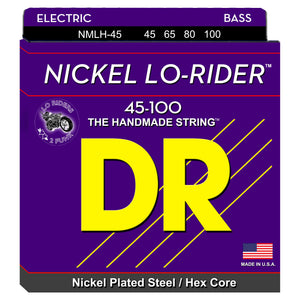 DR Nickel Lo-Rider Bass Strings 45-100 Lite 4-String NMLH-45