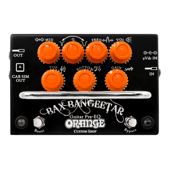 Orange Pedals Black Bax Bangeetar Guitar Pre EQ