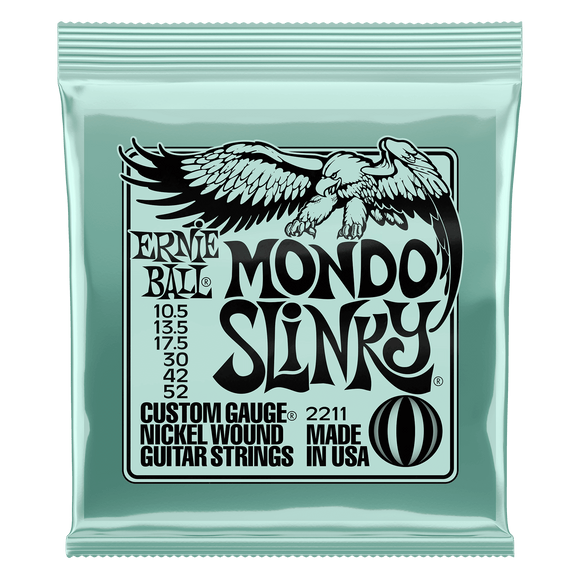 Ernie Ball Nickel Wound Mondo Slinky 10.5 -52 Electric Strings Ernie Ball