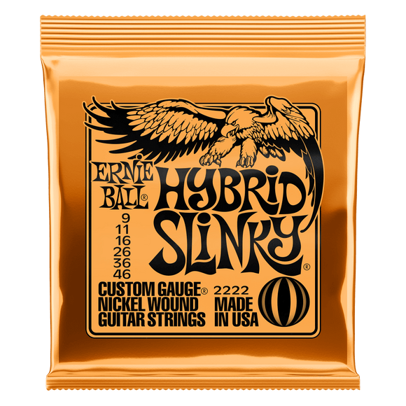 Ernie Ball Nickel Wound Hybrid Slinky 9-46 Electric Strings