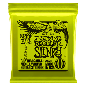 Ernie Ball Nickel Wound Regular Slinky 7-String Nickel Wound Electric Guitar Strings 10-56