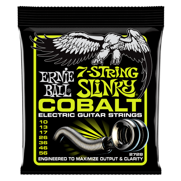 Ernie Ball Cobalt 7-String Electric Strings Regular 10-56 Slinky