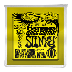 Ernie Ball Bass Strings Super Slinky for 6 String 20-90