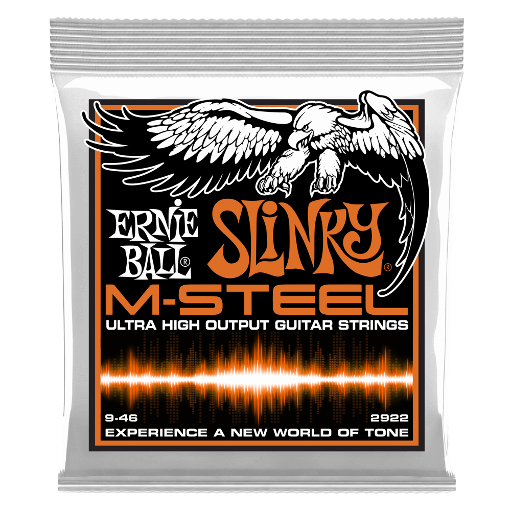 Ernie Ball M-Steel Slinky Electric Guitar Strings - Hybrid .009-.046