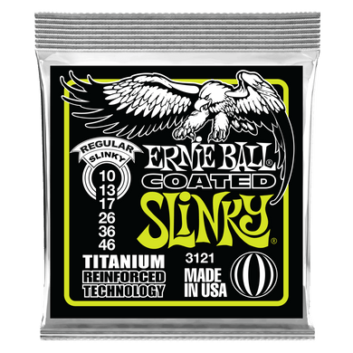 Ernie Ball Coated Electric Strings Titanium Regular Slinky - 10-46