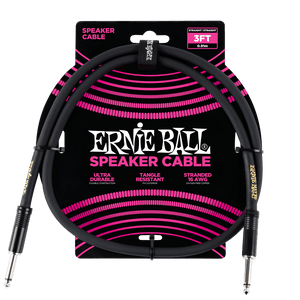 Ernie Ball 3' Speaker Cable - Black