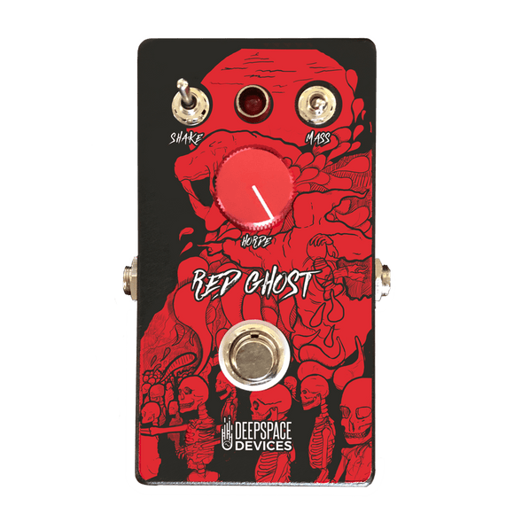 Deep Space Devices Red Ghost Fuzz Overdrive Pedal