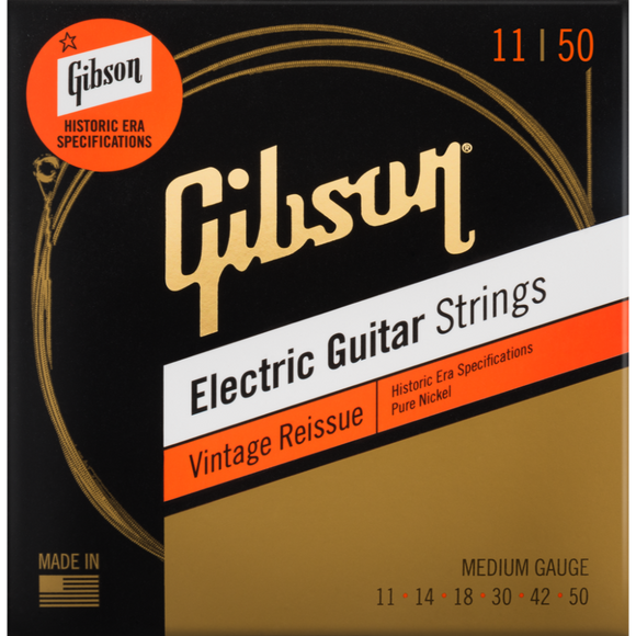 Gibson Vintage Reissue Electric Guitar Strings - Medium 11-50