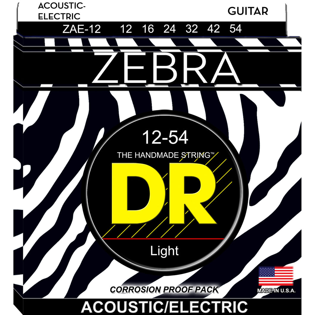DR Zebra Acoustic Strings Lite 12-54 (Acoustic - Electric)
