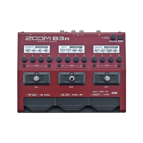 ZOOM B3n Multi-Effects Pedal for Bass