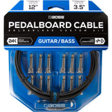 BOSS Solderless Pedalboard Cable Kit, 12 Connectors, 12ft / 3.5m Cable BCK-12
