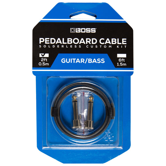BOSS Solderless Pedalboard Cable Kit, 2 Connectors, 2ft / 0.5m Cable BCK-2