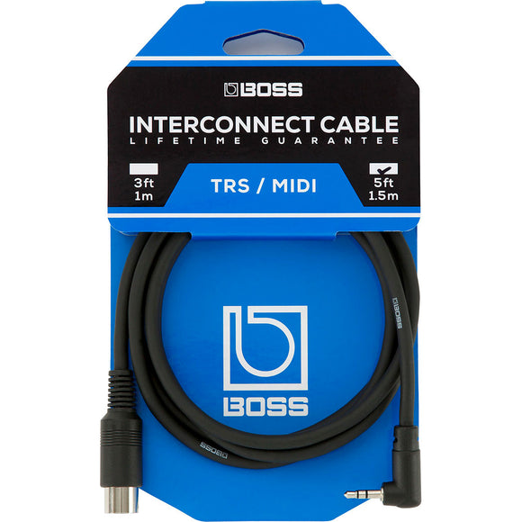 BOSS 3.5mm Trs/5p Midi Connecting Cable 5ft