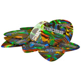 BOSS Abalone Celluloid Guitar Picks - Medium 12 Pack BPK-12-AM