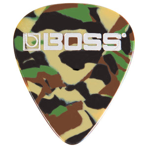 BOSS Celluloid Guitar Picks - Thin, Camo 12 Pack BPK-12-CT