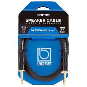 "BOSS Speaker Cable - 1/4"" TS to 1/4"" TS, 3'"
