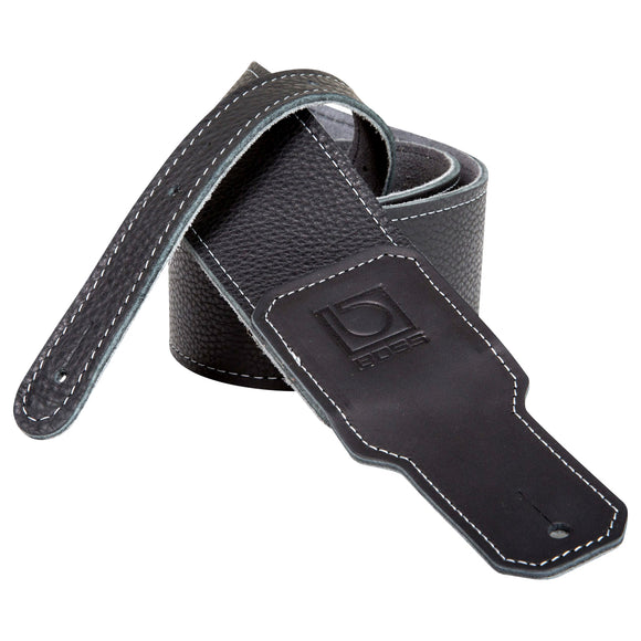 BOSS Black Leather Guitar Strap 2.5