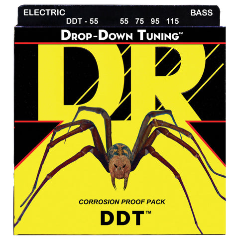 DR DDT-55 Drop Down Tuning Bass Strings - Heavier, 55-115