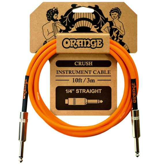 Orange Crush 10ft Instrument Cable Straight to Straight