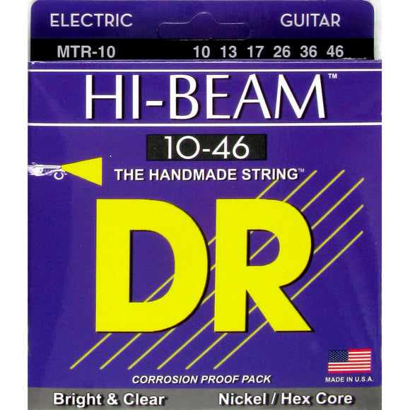 DR Hi-Beam MTR7-10 Nickel-Plated Steel Hex Core Electric Strings Medium 7-String 10-56