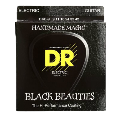 DR Strings BKE-9 Black K3 Coated Electric Strings - Lite, 9-42