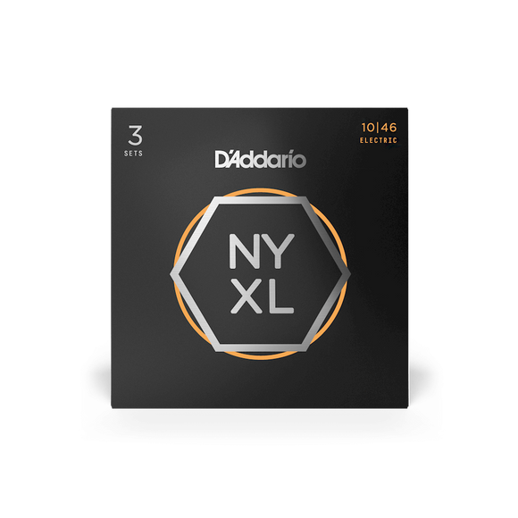 D'Addario NYXL Electric Guitar Strings Regular Light 10-46, 3-Pack