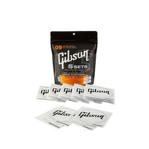 Gibson Brite Wires Electric Strings 5-Pack Ultra Lights 9-42
