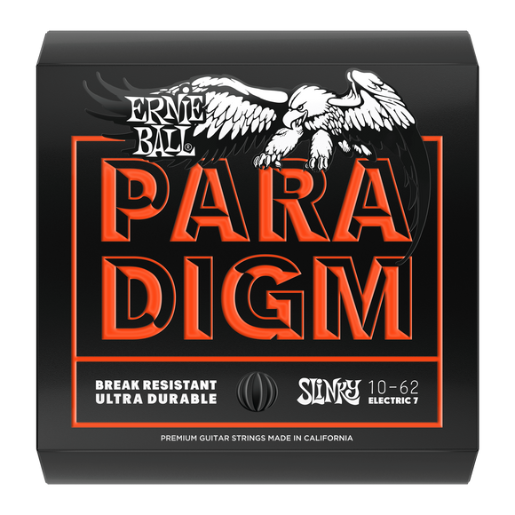 Ernie Ball Paradigm Skinny Top Heavy Bottom Slinky Electric Strings 10-62