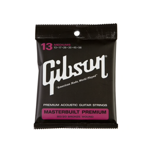 Gibson Masterbuilt Premium 80/20 Bronze Acoustic Strings Lights 13-56